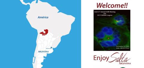 LV Reunión de SAIB y XIV Congreso PABMB, Bienvenidos!!   Por Soledad Urtubey (Consultora en Eventos, Argentina)