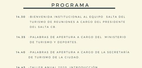 MICE, Taller Operativo Anual 2020 por Soledad Urtubey (Consultora en Eventos, Argentina)